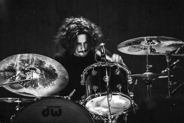 Giovanni Franceschini, batterista, live.